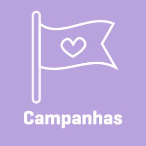 bandeira de campanha com coração